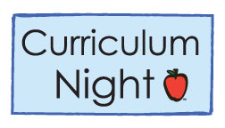 Curriculum Night – Thursday, Sept. 14, 2017
